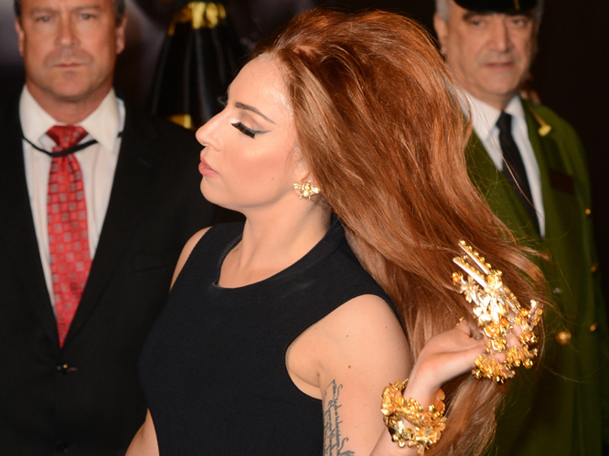 US superstar Lady Gaga was at London&#39;s Harrods store for the UK launch of her first fragrance Fame this weekend, which was billed as an event for fans to mingle with the star. However, on arrival she refused to walk the &#39;black carpet&#39; which had been laid out for the singer, dashing inside the store before many fans had even caught site of their pop idol. Those poor little monsters...
